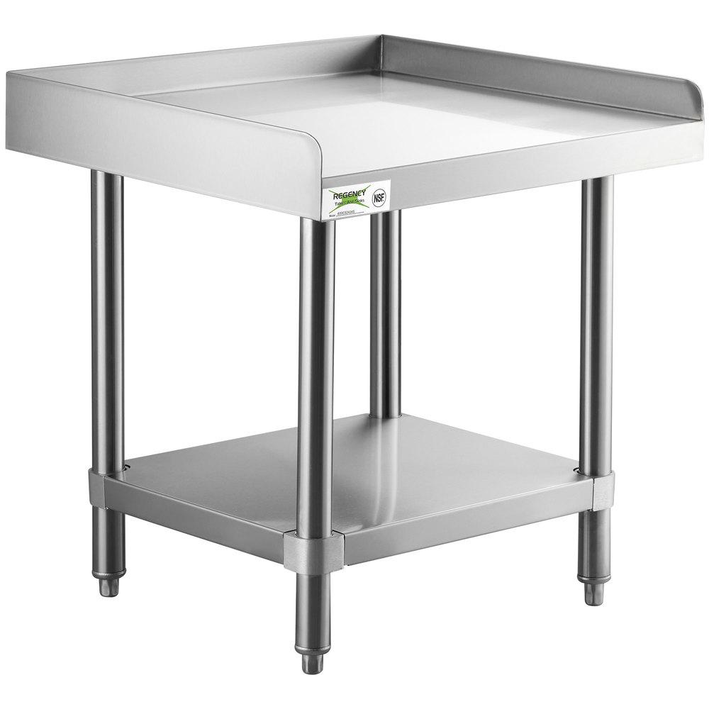 Regency 24 inch x 24 inch 14-Gauge Stainless Steel Equipment Stand With Galvanized Undershelf