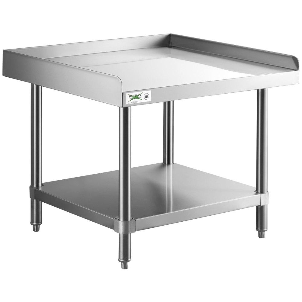 Regency 30 inch x 30 inch 14-Gauge Stainless Steel Equipment Stand With Galvanized Undershelf