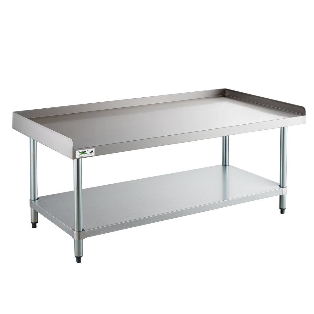 Regency 24 inch x 60 inch 16-Gauge Stainless Steel Equipment Stand with Galvanized Undershelf
