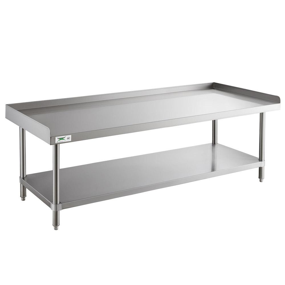 Regency 30 inch x 72 inch 14-Gauge Stainless Steel Equipment Stand With Galvanized Undershelf