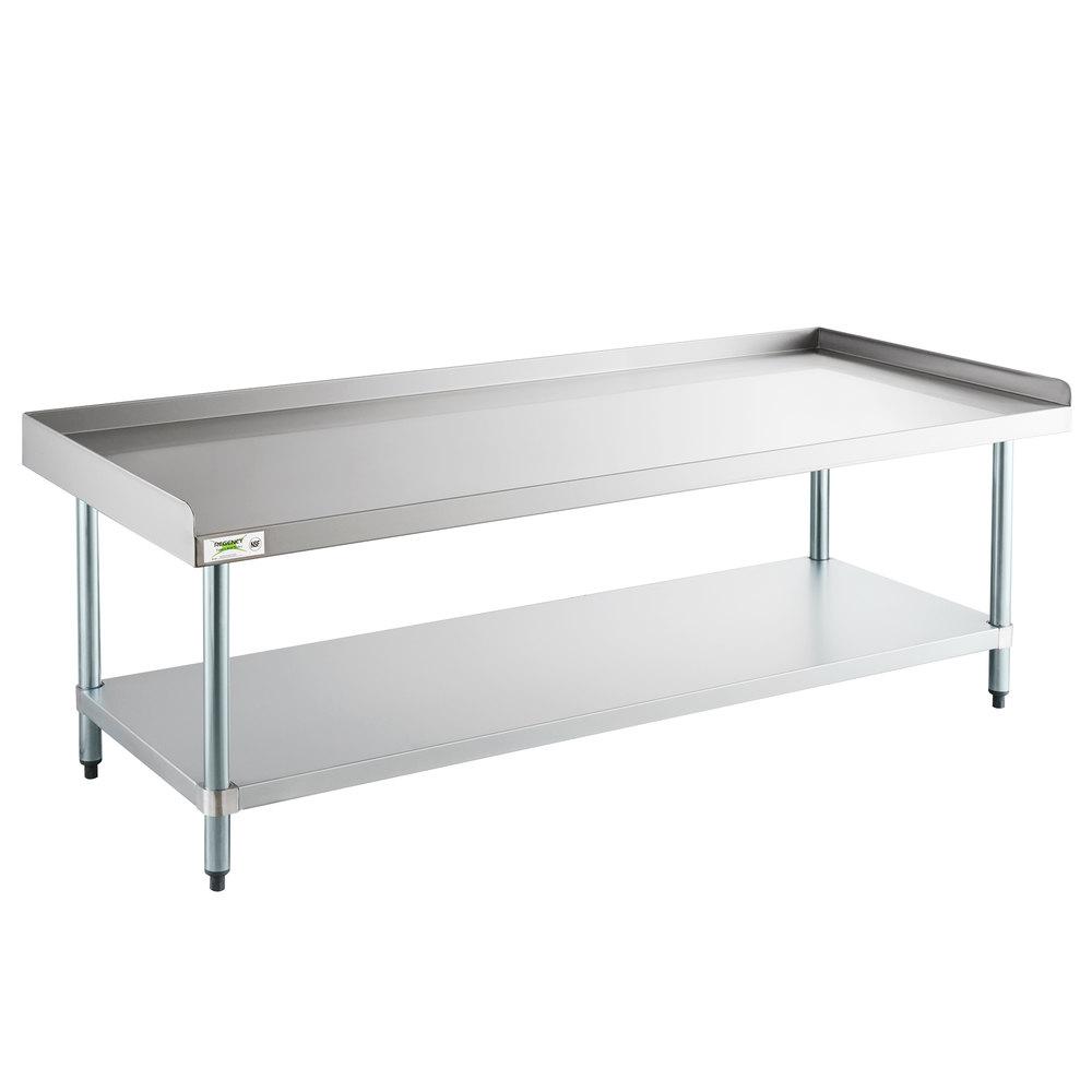 Regency 24 inch x 72 inch 16-Gauge Stainless Steel Equipment Stand with Galvanized Undershelf