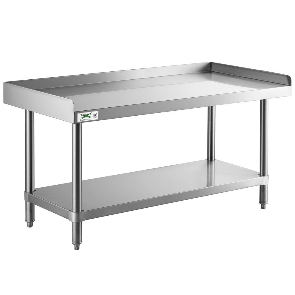 Regency 24 inch x 48 inch 14-Gauge Stainless Steel Equipment Stand With Galvanized Undershelf