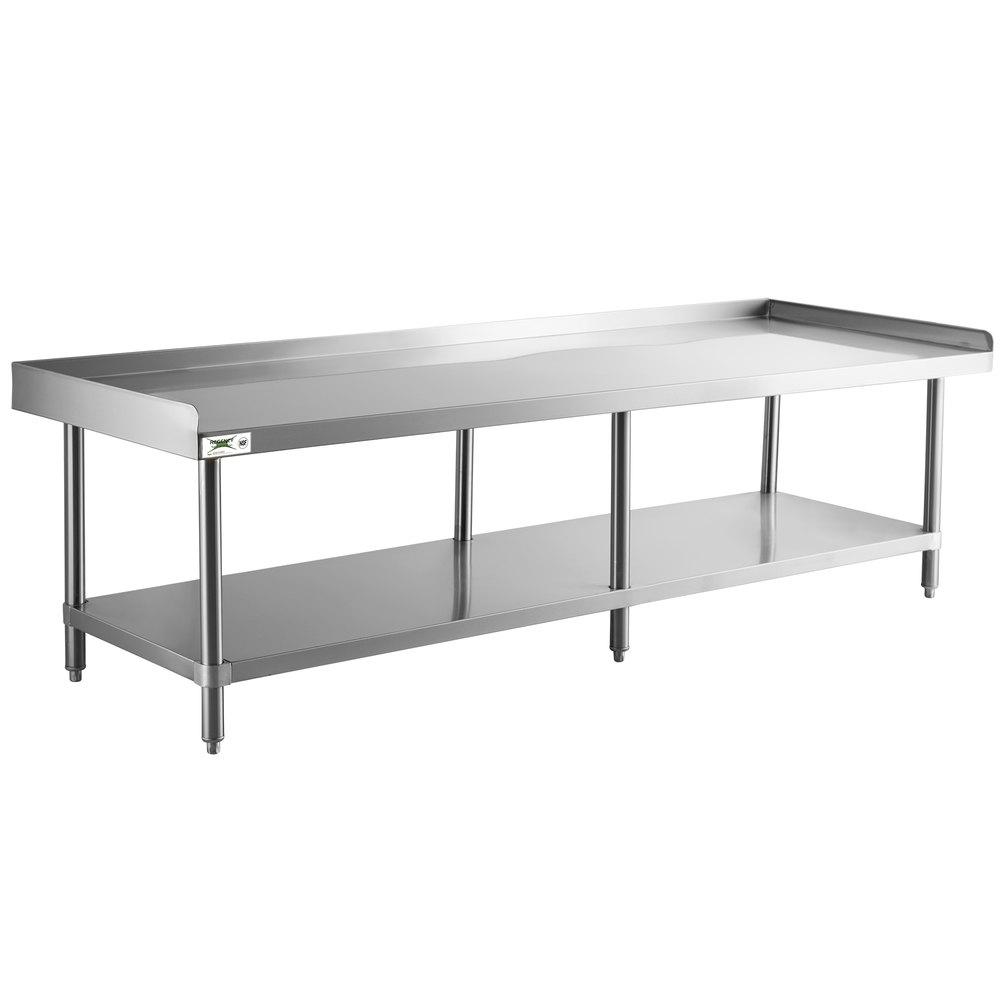 Regency 30 inch x 84 inch 14-Gauge Stainless Steel Equipment Stand With Galvanized Undershelf