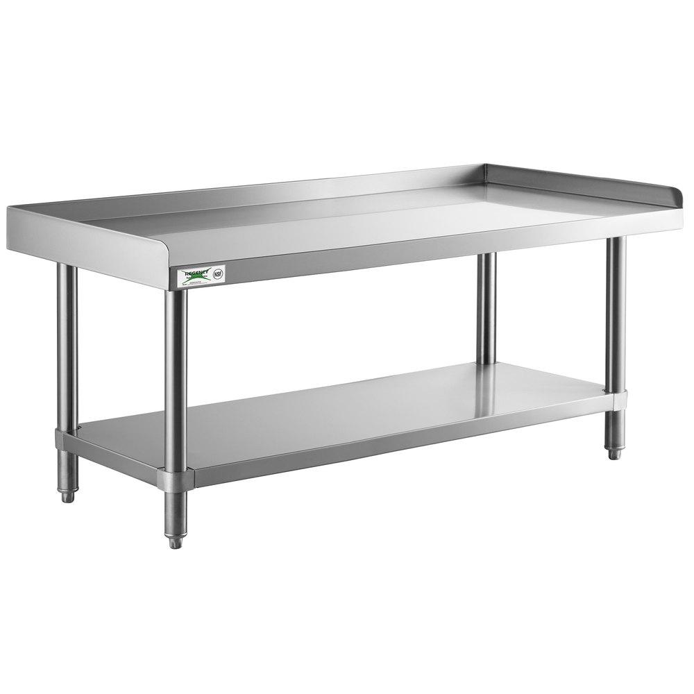 Regency 24 inch x 60 inch 14-Gauge Stainless Steel Equipment Stand With Galvanized Undershelf