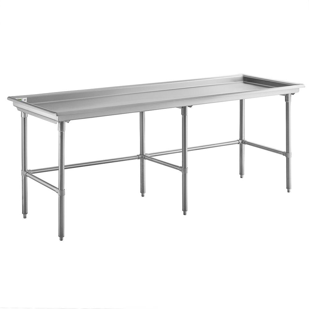 Regency 30 inch x 96 inch 16-Gauge Type 304 Stainless Steel Sorting Table