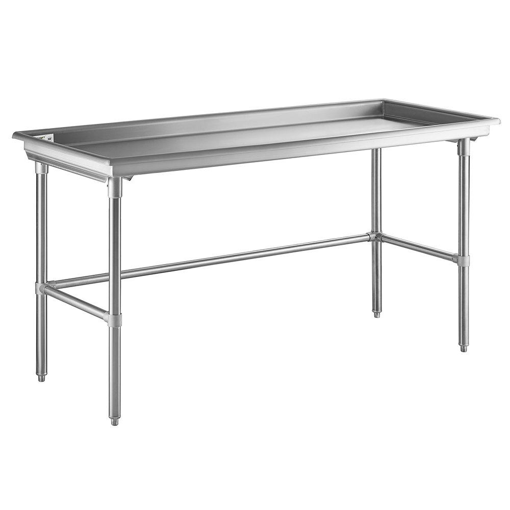 Regency 30 inch x 72 inch 16-Gauge Type 304 Stainless Steel Sorting Table