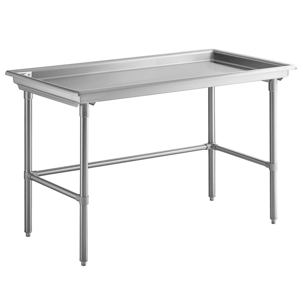 Regency 30 inch x 60 inch 16-Gauge Type 304 Stainless Steel Sorting Table