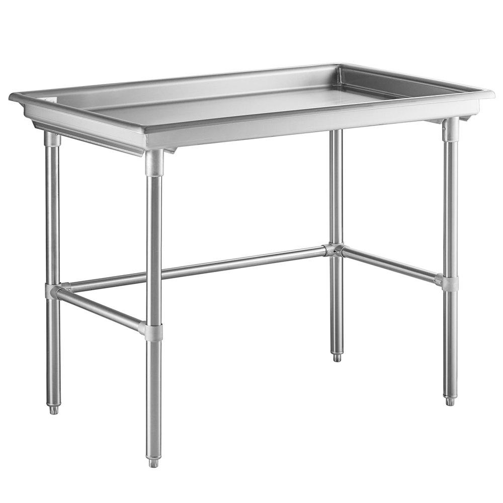 Regency 30 inch x 48 inch 16-Gauge Type 304 Stainless Steel Sorting Table