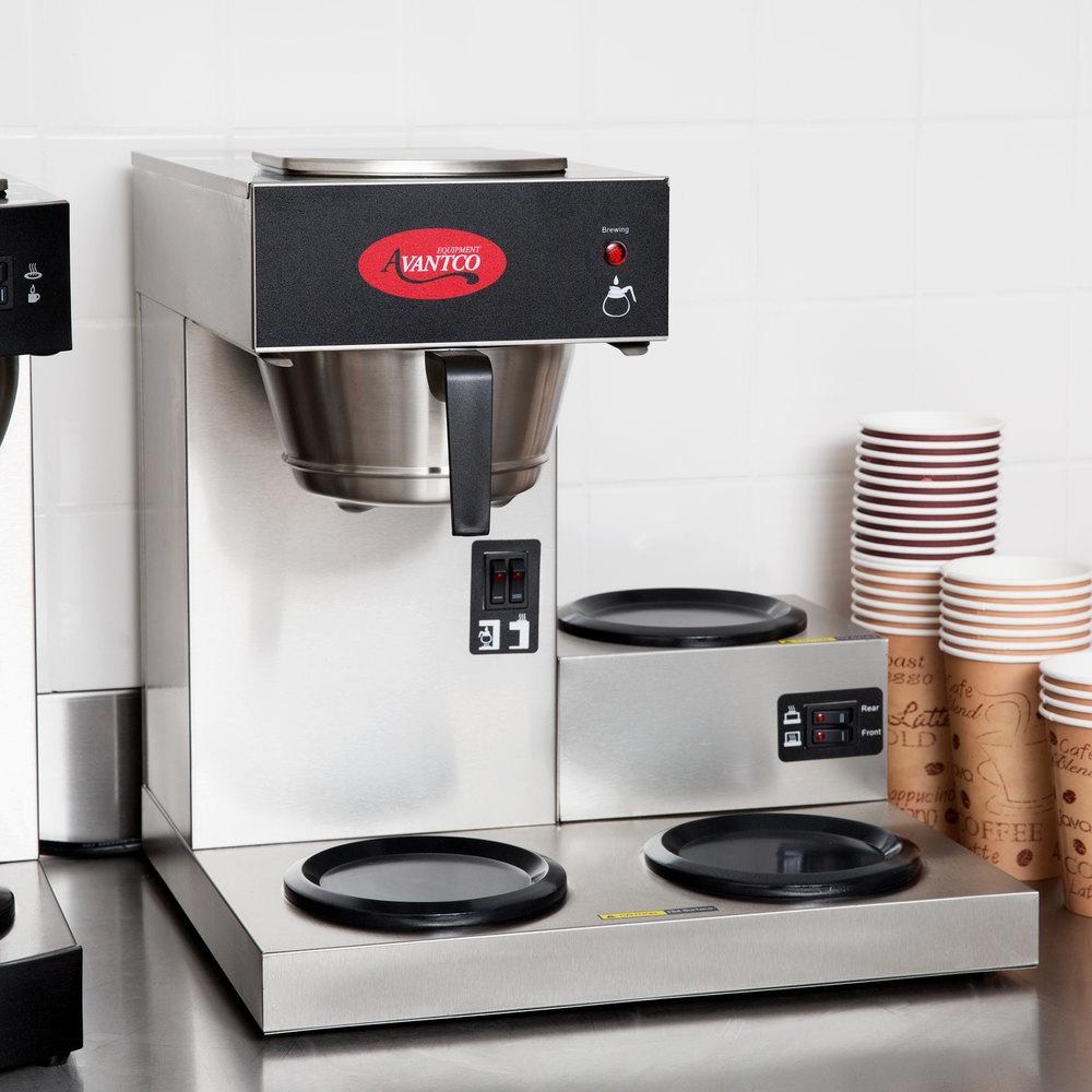 Avantco C30 Pourover Commercial Coffee Maker With 3 Warmers 120v Bunn Wiring Diagram