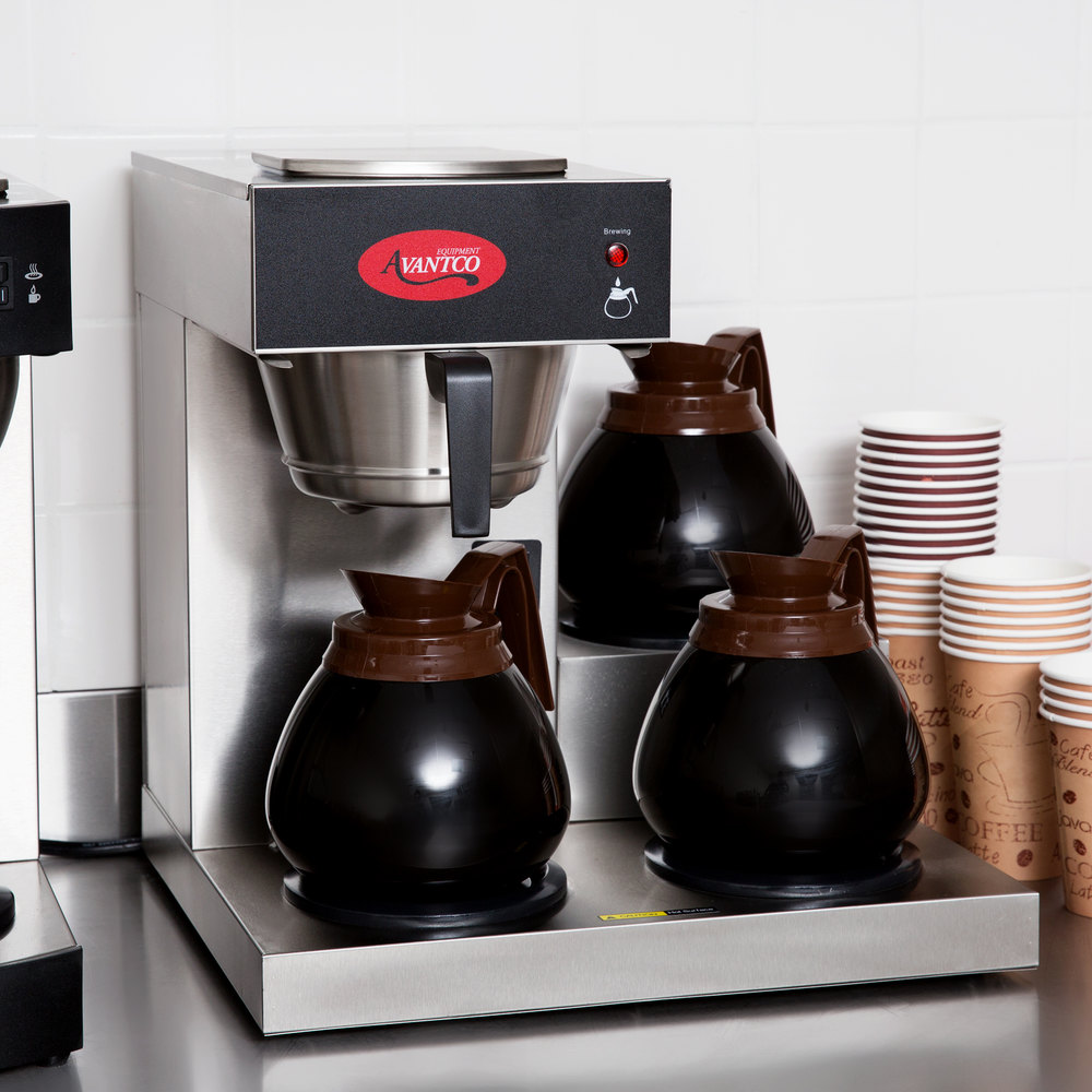 Avantco C30 Pourover Commercial Coffee Maker With 3 Warmers 120v Bunn Wiring Diagram Video