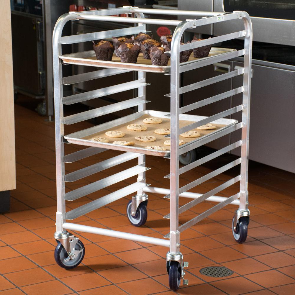 Regency 10 Pan End Load Half Height Bun Sheet Pan Rack