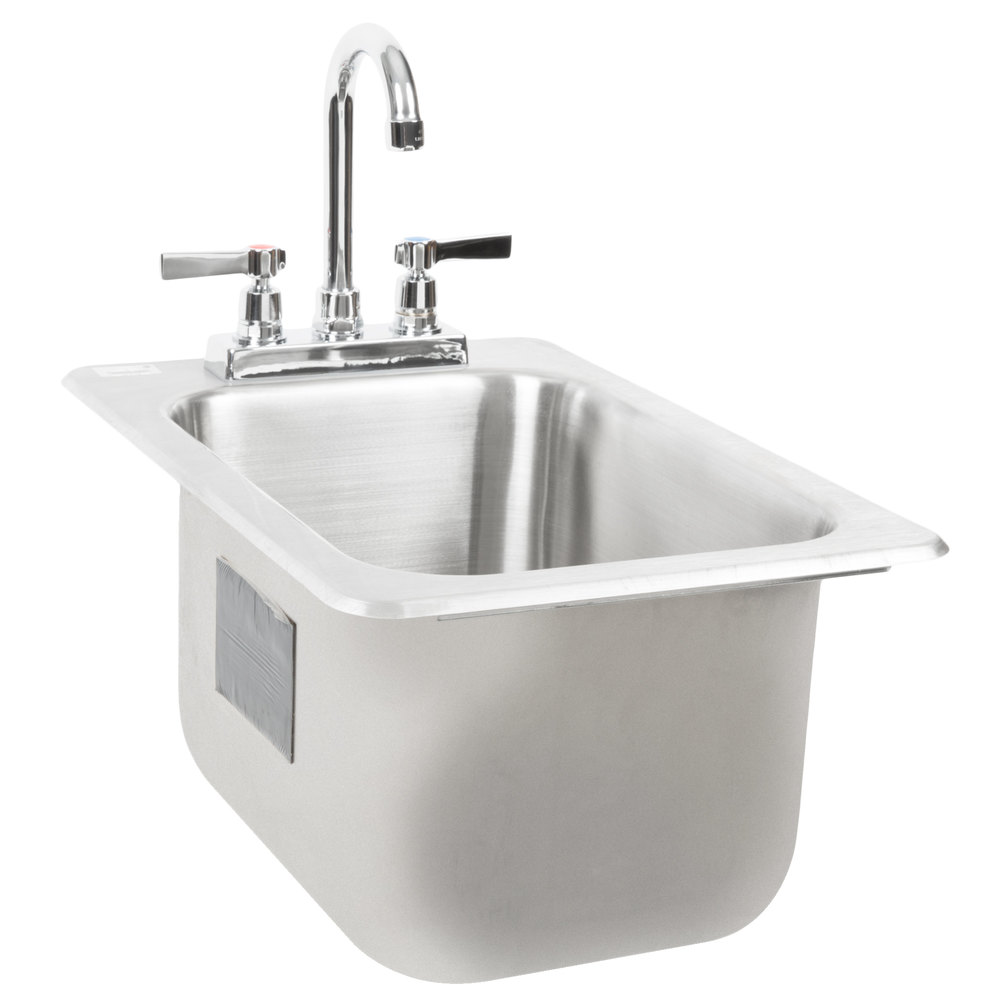 """Extra Deep Kitchen Sink: Advance Tabco DI-1-10 Drop In Stainless Steel Sink 10"""" Deep"""