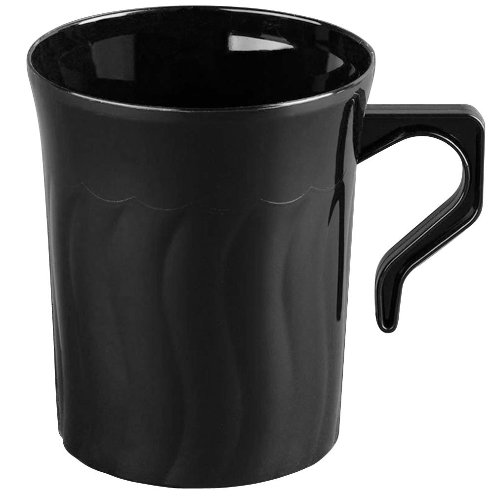 Fineline Flairware Black 208-BK 8 oz. Plastic Coffee Mug ...