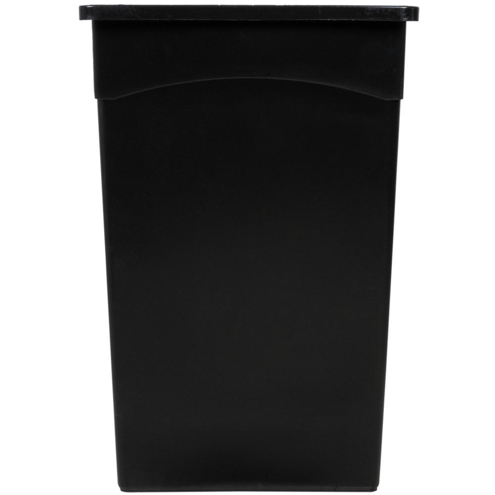 Continental 8322BK 23 Gallon Black Wall Hugger / Slim Trash Can ...