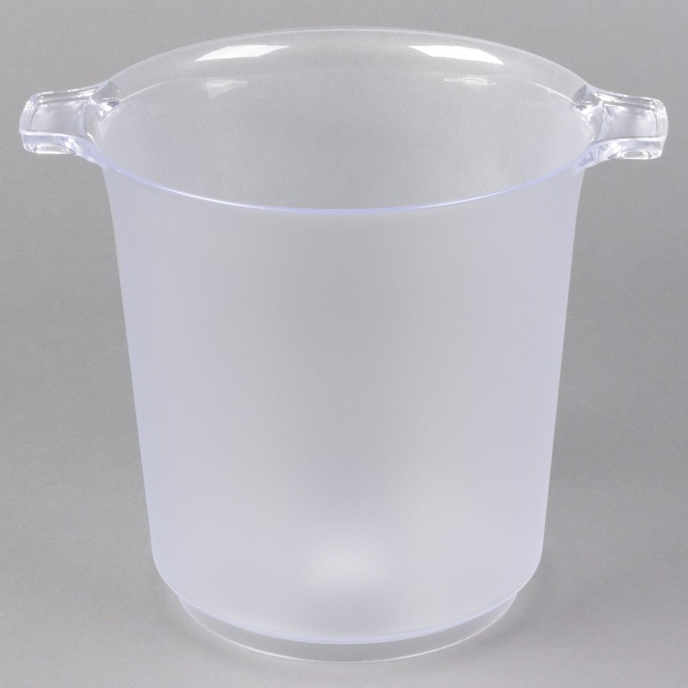 Best Wine Coolers >> Fineline Platter Pleasers 3403 Heavy Duty Disposable Plastic 4 Qt. Wine / Champagne Chiller Ice ...