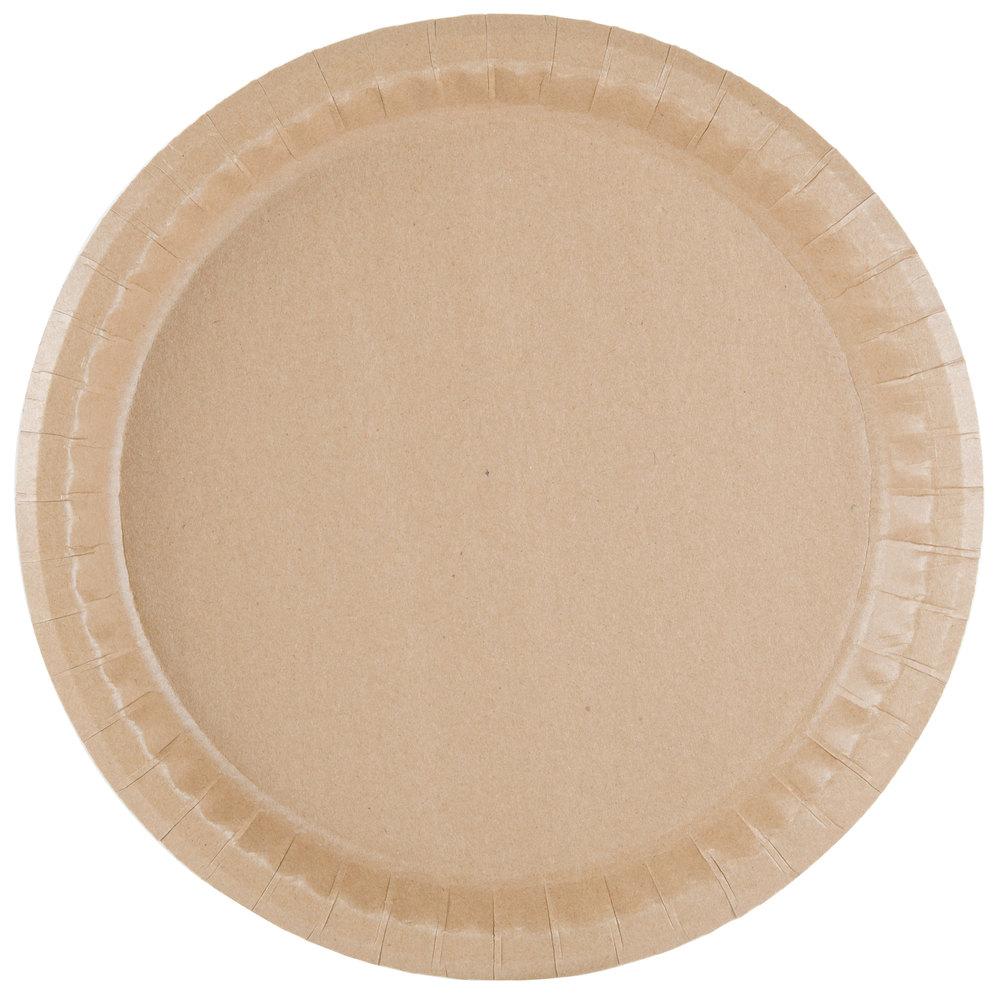 Solut 20020 10 1/4 inch Coated Kraft Paper Plate - 400/Case  sc 1 st  WebstaurantStore & Solut 20020 10 1/4