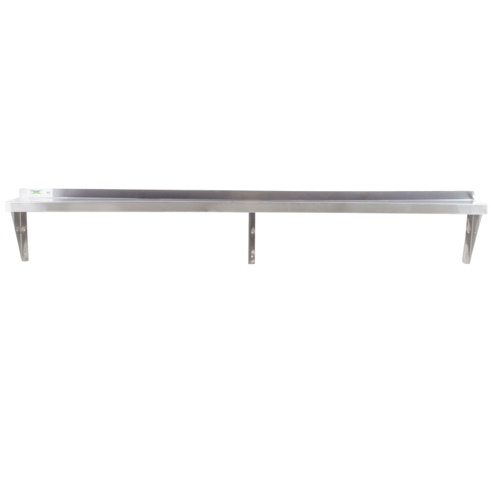 Stainless Steel Shelves Regency 18 Gauge Stainless Steel 12 X 84 Solid Wall Shelf