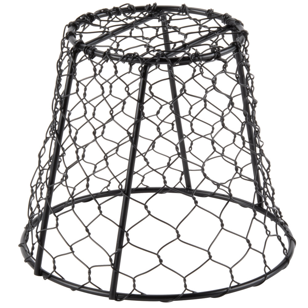 American Metalcraft WIR2 Round Black Chicken Wire Basket - 7\