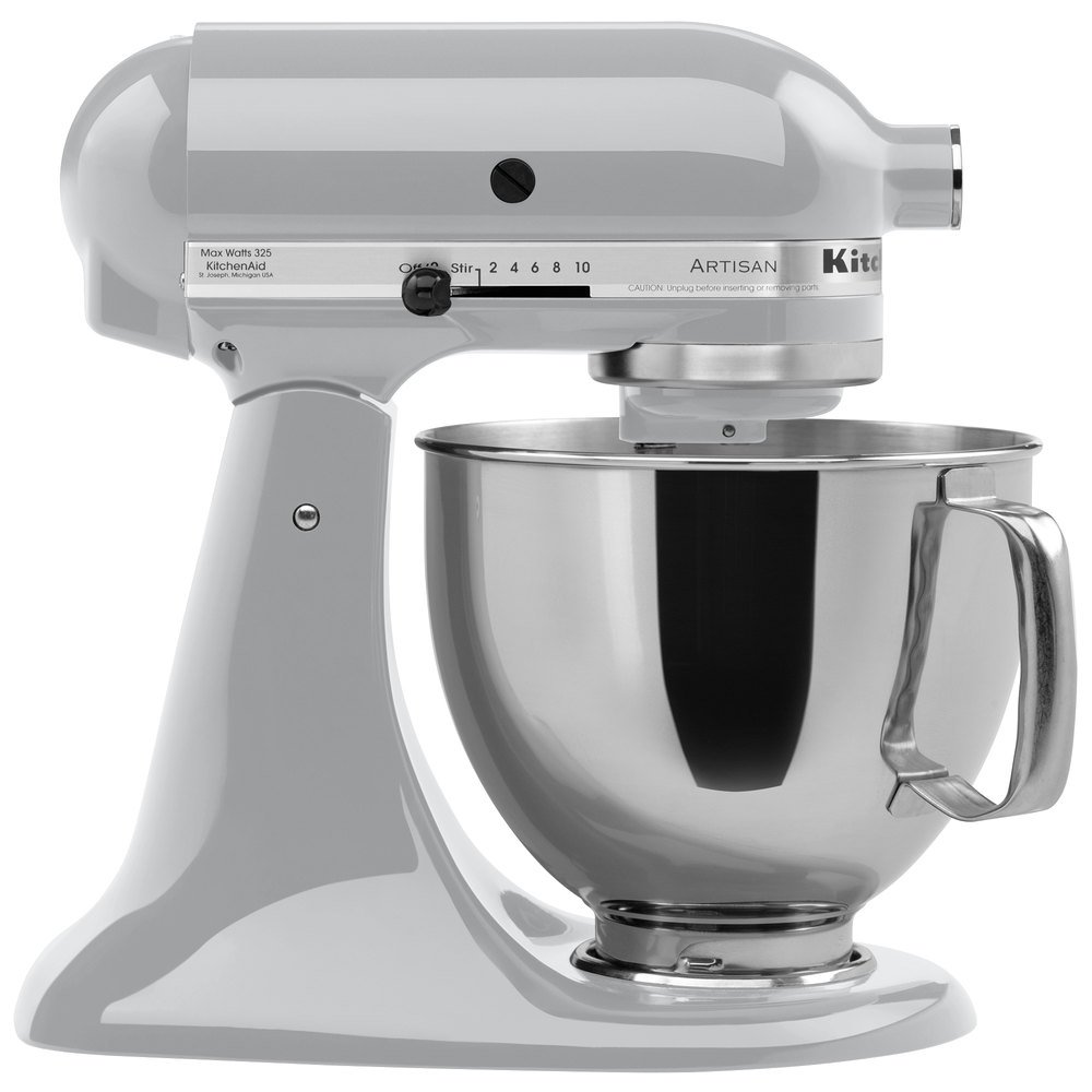 KitchenAid KSM150PSMC Artisan Series Metallic Chrome 5 Qt. Tilt Head Countertop Mixer - 120V ...