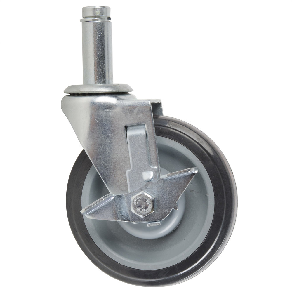 Regency Replacement 5 inch Polyurethane Shelving Stem Caster with Brake