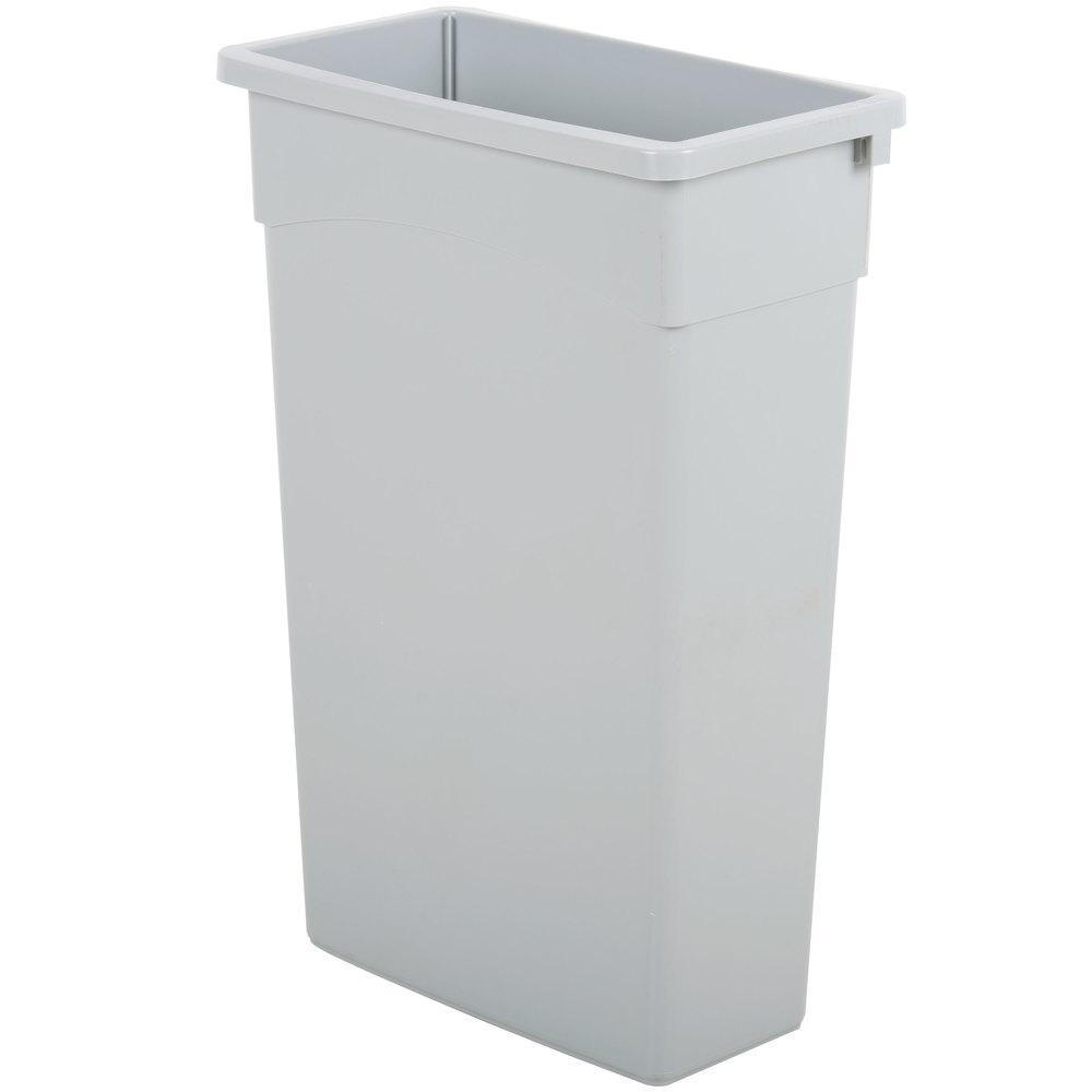 Continental 8322gy 23 Gallon Gray Wall Hugger Trash Can