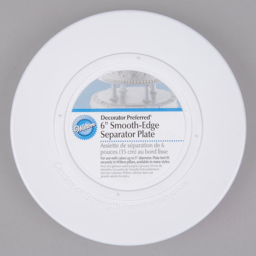 Wilton 302-4101 Decorator Preferred Round Smooth Edge Cake Separator Plate - 6 inch ...  sc 1 st  WebstaurantStore & Disposable Cake Plates - WebstaurantStore