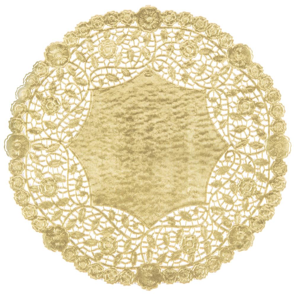 12 inch Gold Foil Lace Doily - 500/Case ...