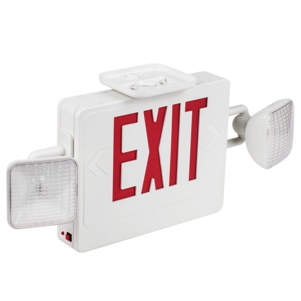 Emergency Exit Sign With Led Emergency Lighting Battery