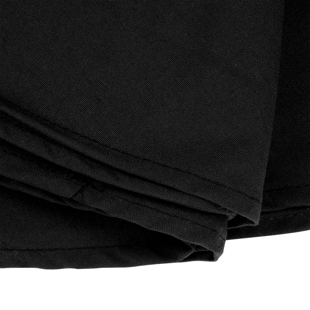 120 round black 100 polyester hemmed cloth table cover for 120 round table cover