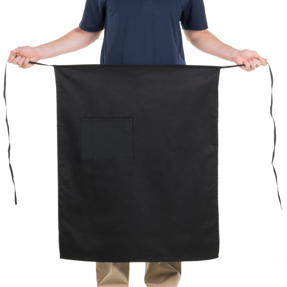 Choice Black Bistro Apron with Pocket