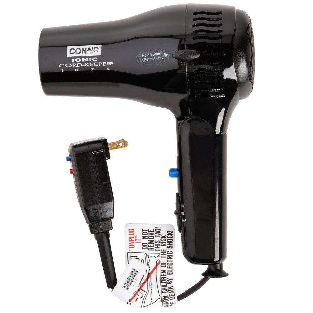 conair 169biw black cord keeper hair dryer 1875w. Black Bedroom Furniture Sets. Home Design Ideas