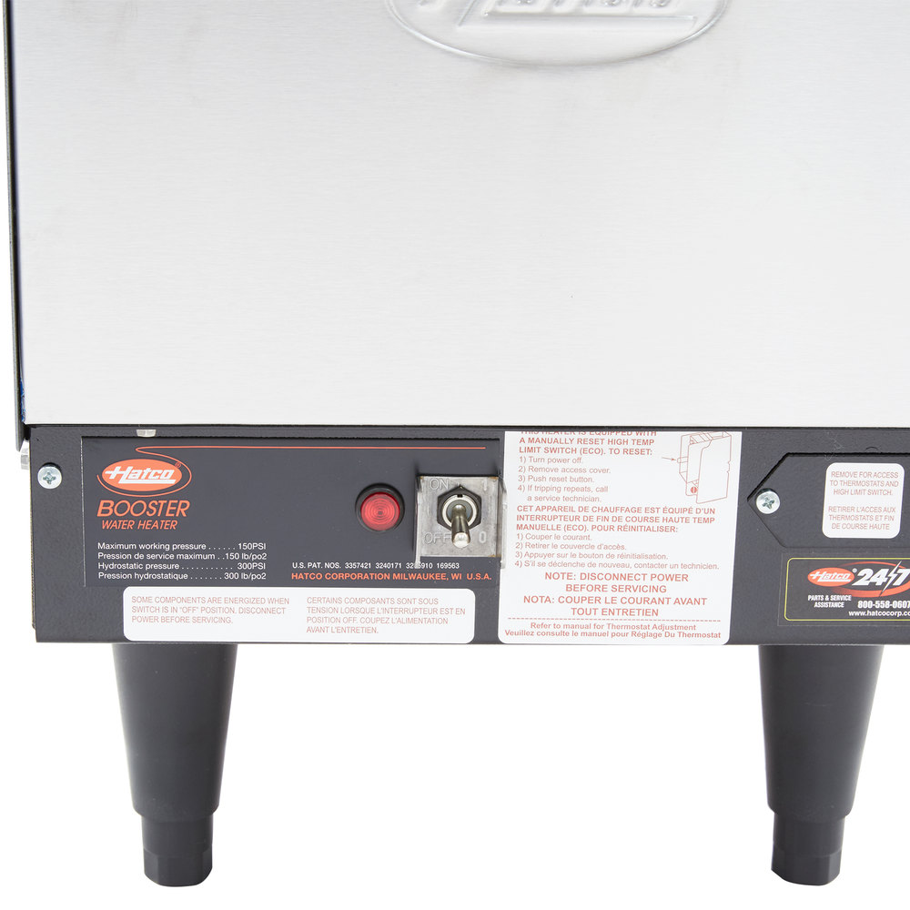 Hatco Booster heater Manual on