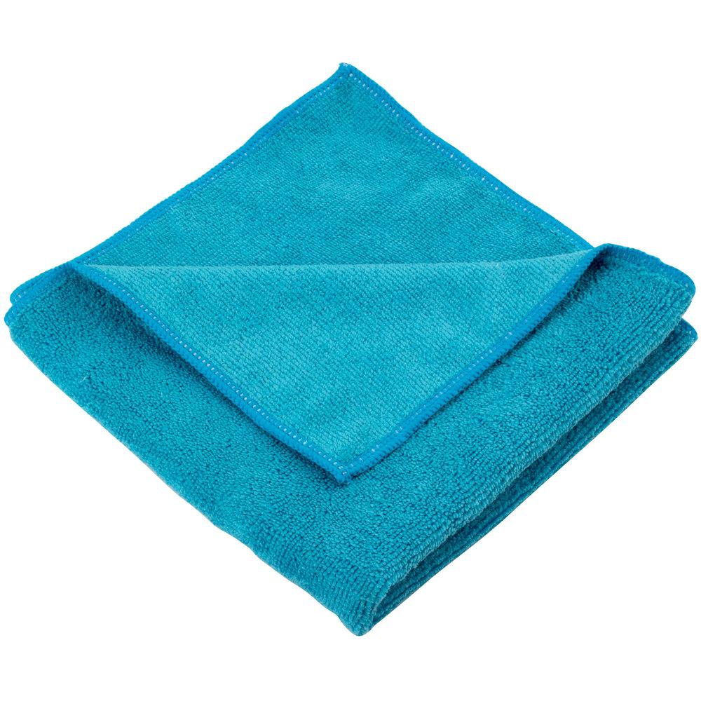 "Microfiber Cloth Guide: Unger MC40B SmartColor MicroWipe 16"" X 16"" Blue Light-Duty"