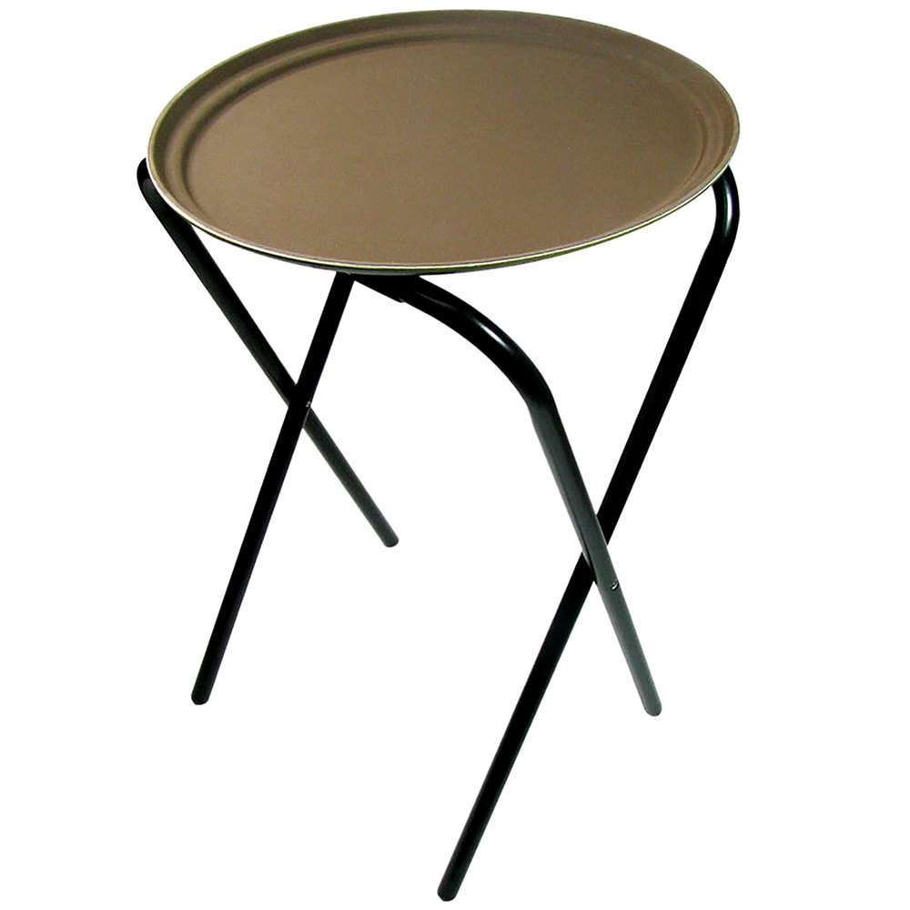 """Lancaster Table & Seating 36"""" Folding Tray Stand Black Metal"""