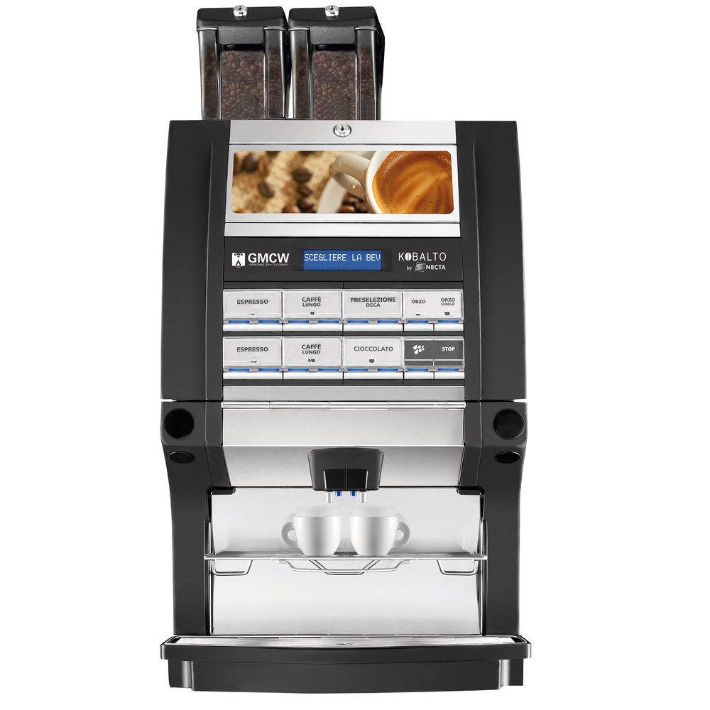 grindmaster kobalto 22 fm super automatic espresso machine with two bean hoppers and