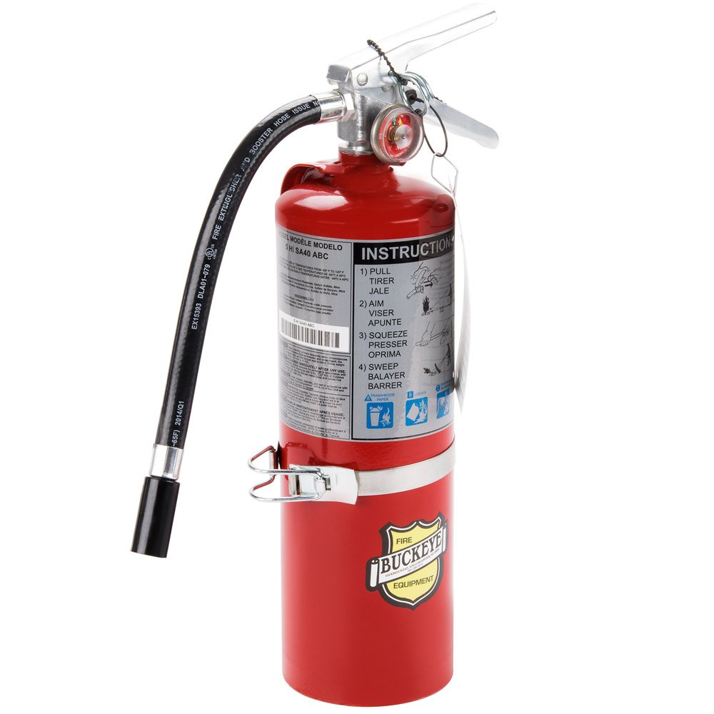 buckeye 5 lb vehicle fire extinguisher class abc rechargeable tagged ul rating 3a 40 b c. Black Bedroom Furniture Sets. Home Design Ideas