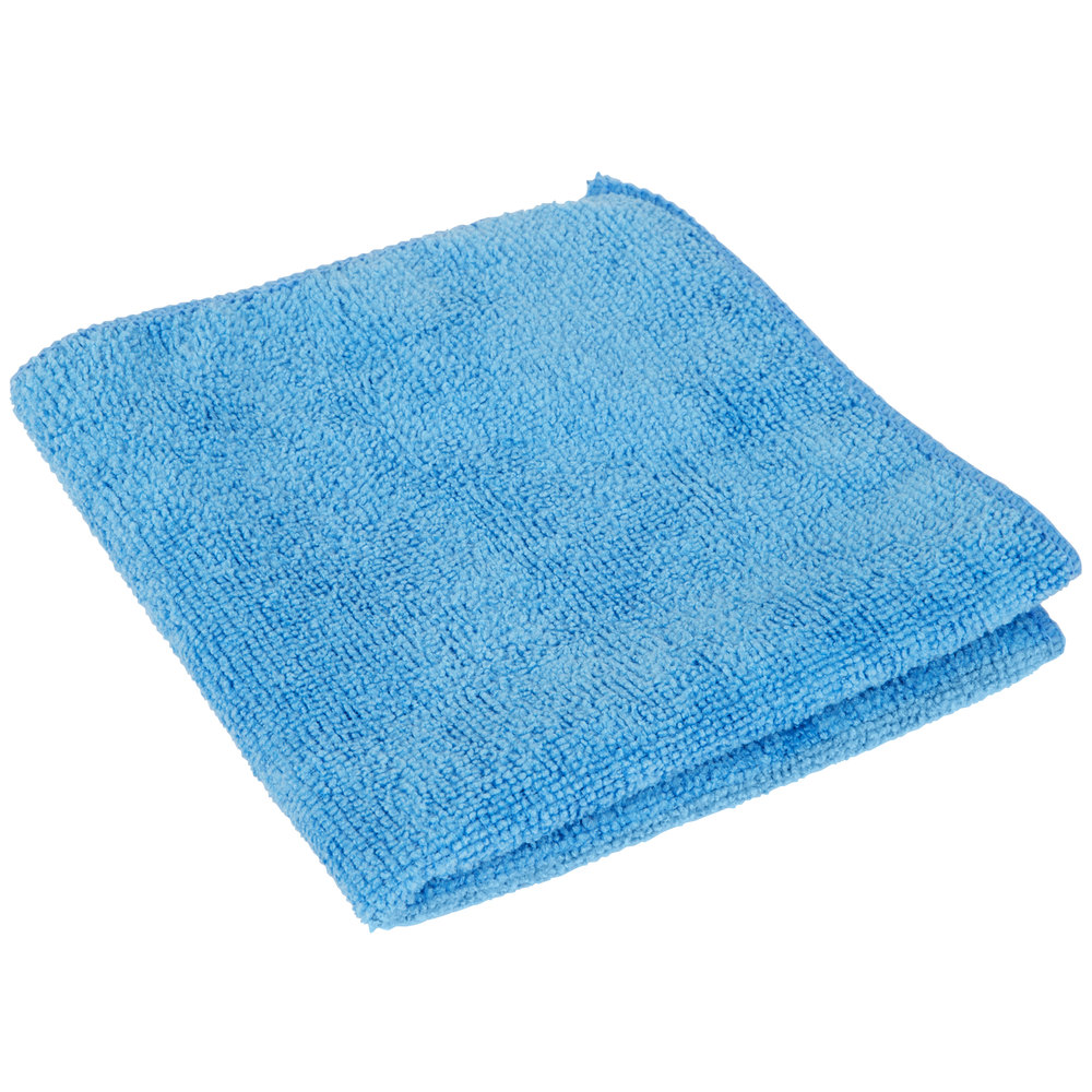 "12"" X 12"" Blue Microfiber Cleaning Cloth"