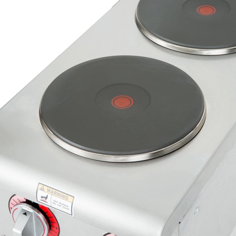 208 Volts APW Wyott SEHPi Dual Solid Burner Countertop Electric Range