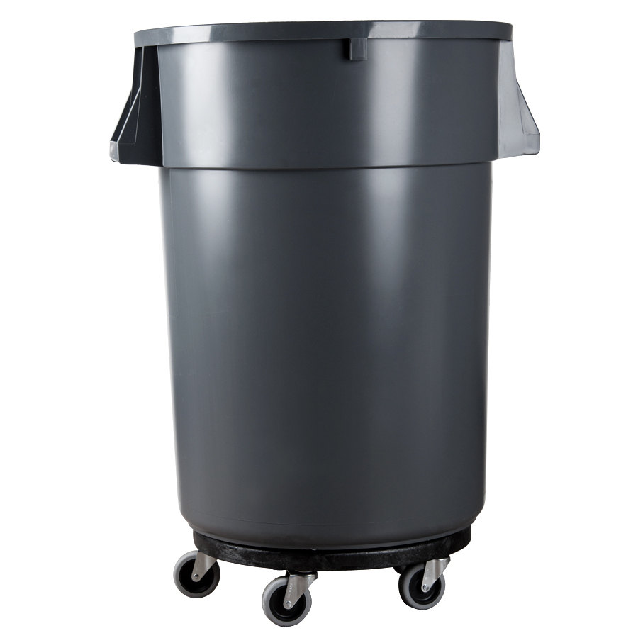 Rubbermaid Kitchen Trash Cans #28: Rubbermaid Brute 2640 Trash Can Dolly (FG264000BLA). Main Picture; Image Preview ...
