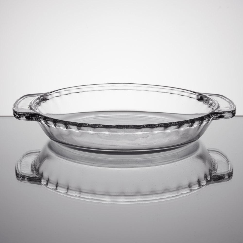 Anchor Hocking 68190FK 9 1/2 inch x 1 5/8 inch Deep Oven ... & Vollrath   Glass Pie Pan