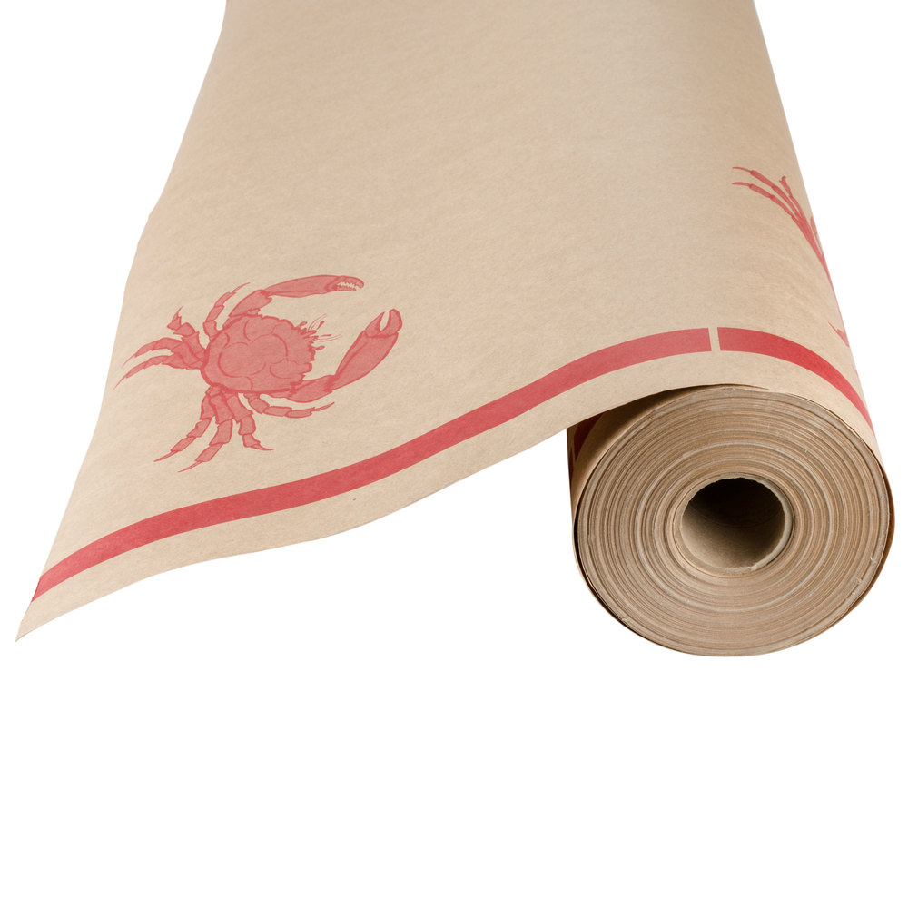 40 Quot X 300 Paper Table Cover With Crab Pattern