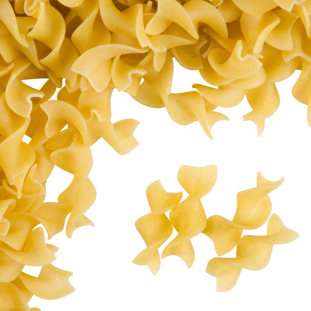 Close up of dry egg noodles