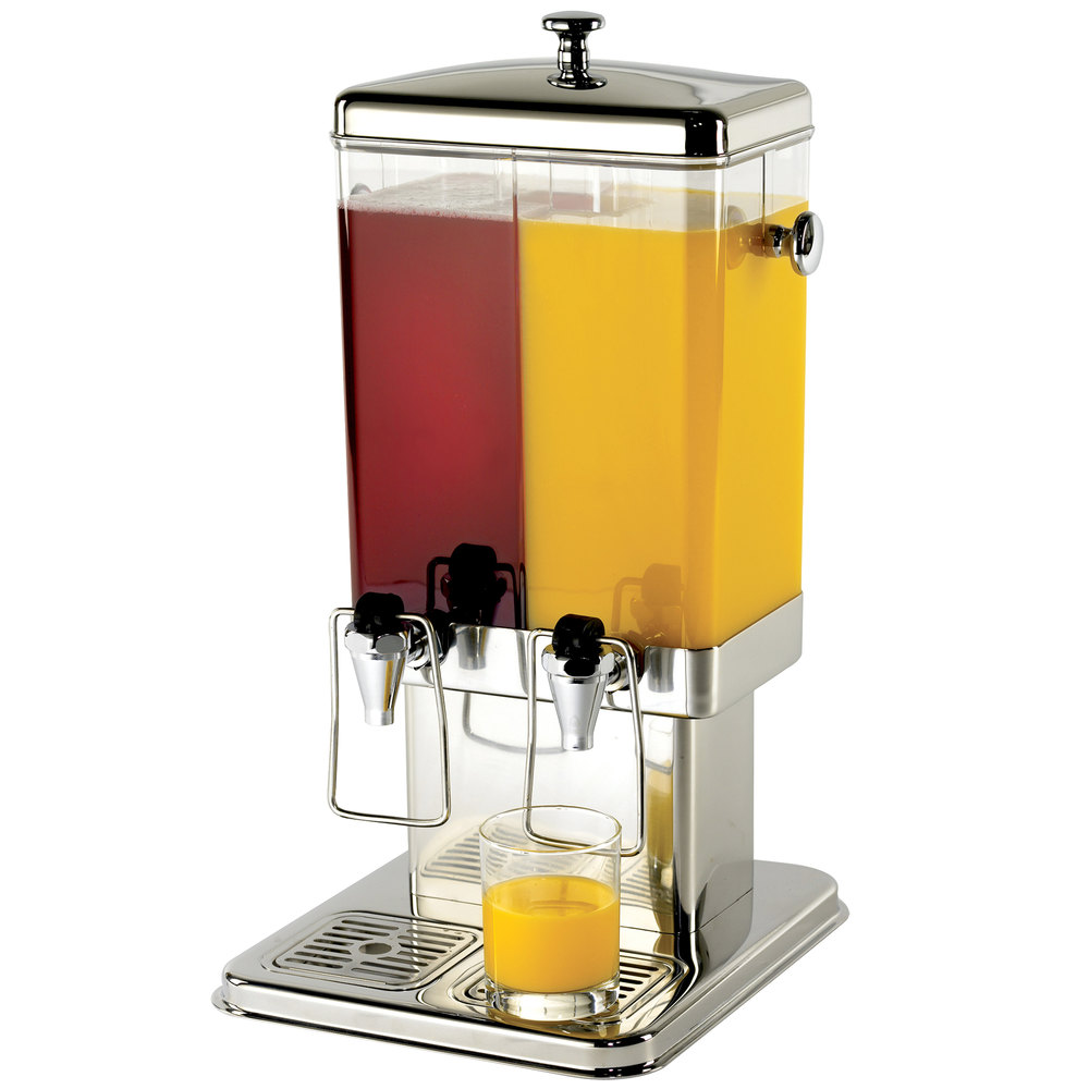 Tablecraft 70 Dual Cold Beverage / Juice Dispenser - 3 Gallons