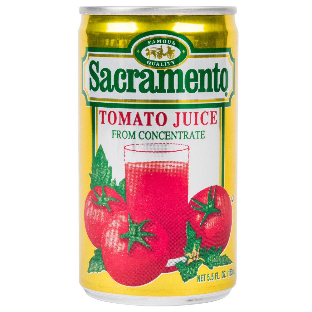 5.5 oz. Canned Tomato Juice - 48/Case