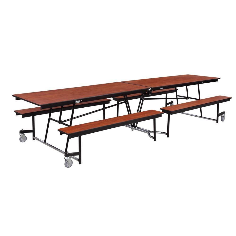 National Public Seating MTFB12 12 Foot Mobile Cafeteria Table With  Particleboard Core ...
