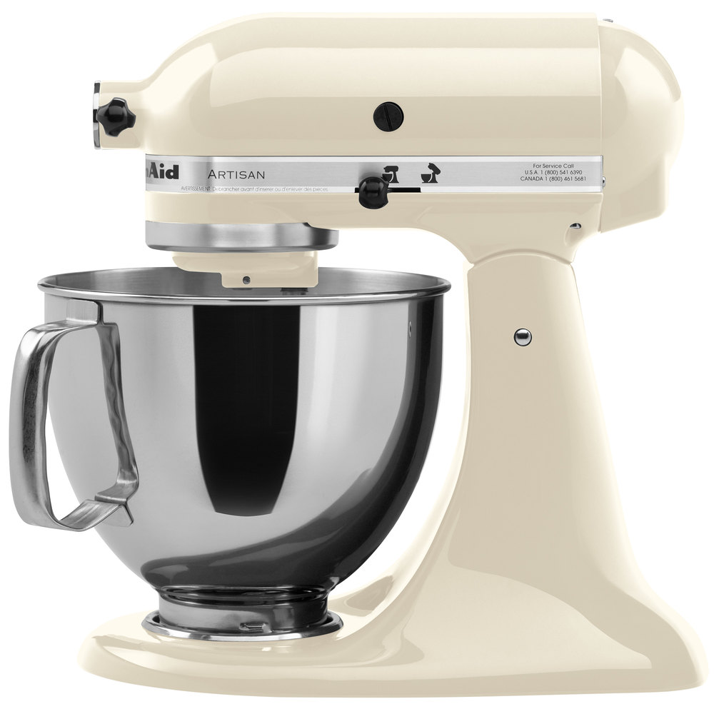 kitchenaid ksm150psac almond cream artisan series 5 qt countertop mixer. Black Bedroom Furniture Sets. Home Design Ideas