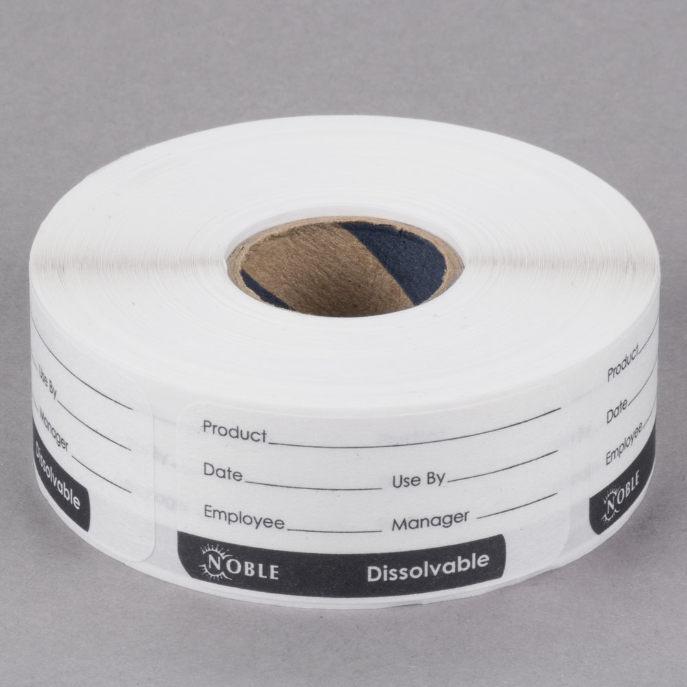 """Noble Products 1"""" X 2"""" Dissolvable Product Label With"""