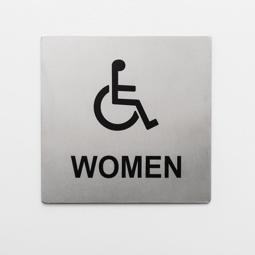 Tablecraft b21 ada handicap accessible women 39 s restroom for Women s bathroom sign