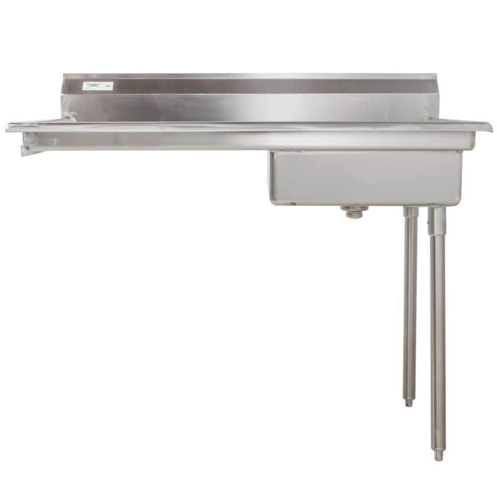 Right Regency 50 inch 16-Gauge Stainless Steel Soiled / Dirty Undercounter Dishtable