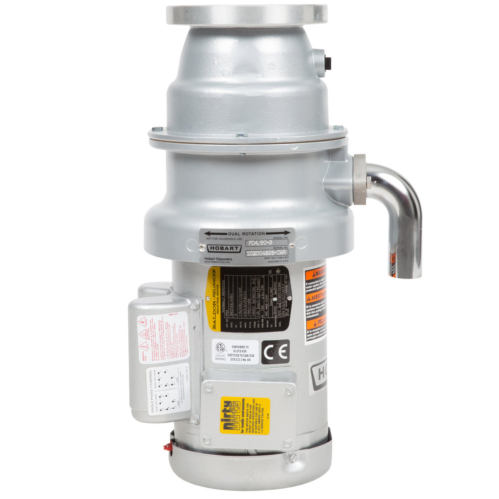 835377 hobart fd4 50 3 commercial garbage disposer with short upper hobart waste disposal wiring diagram at nearapp.co